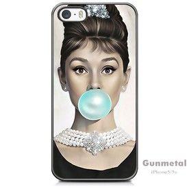 Audrey Hepburn Tiffany Blue Bubble Gum iPhone 5/5s Case
