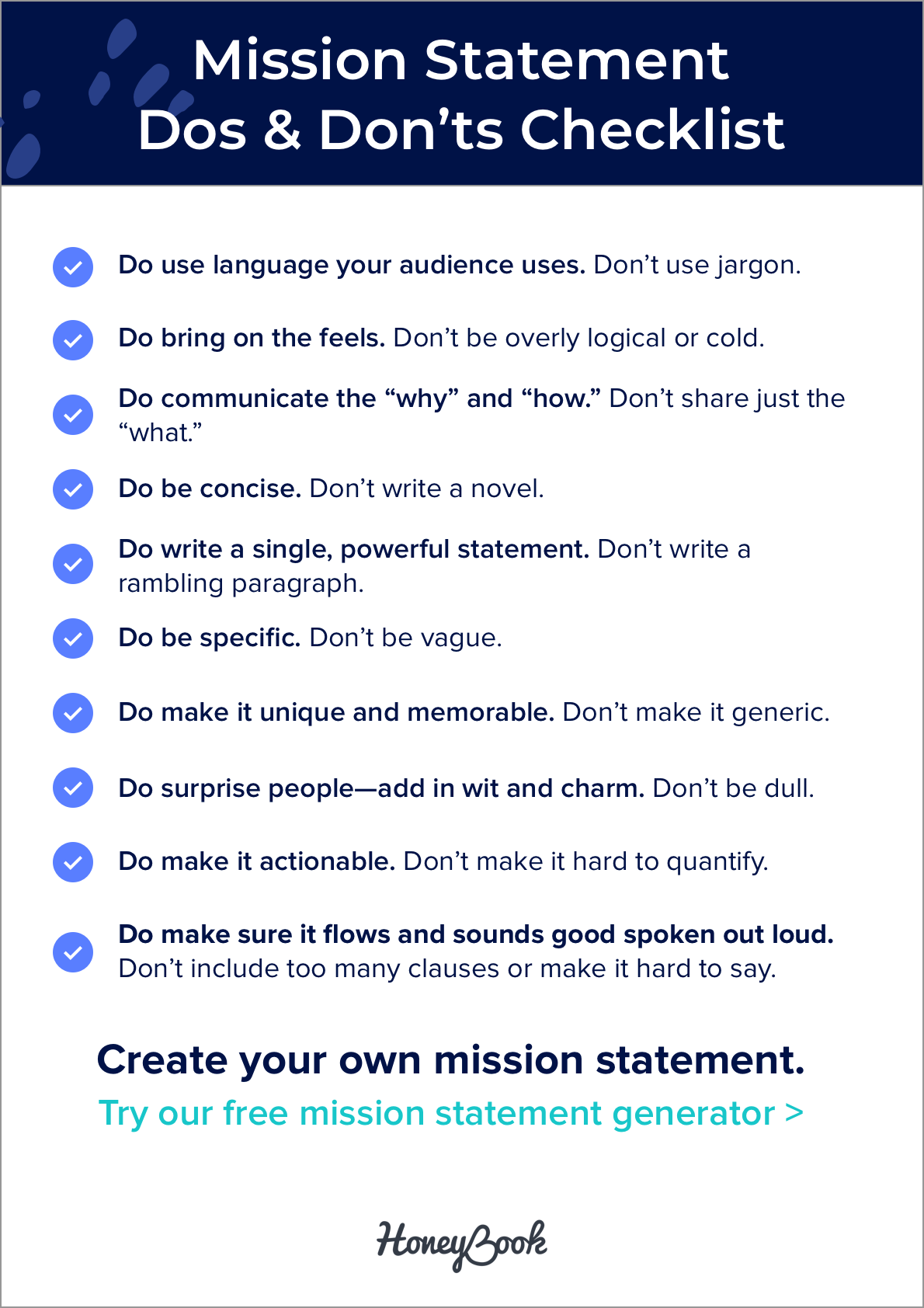 25 Powerful Mission Statement Examples That Make Good Companies Great Honeybook Mission Statement Examples Writing A Mission Statement Mission Statement Examples Business