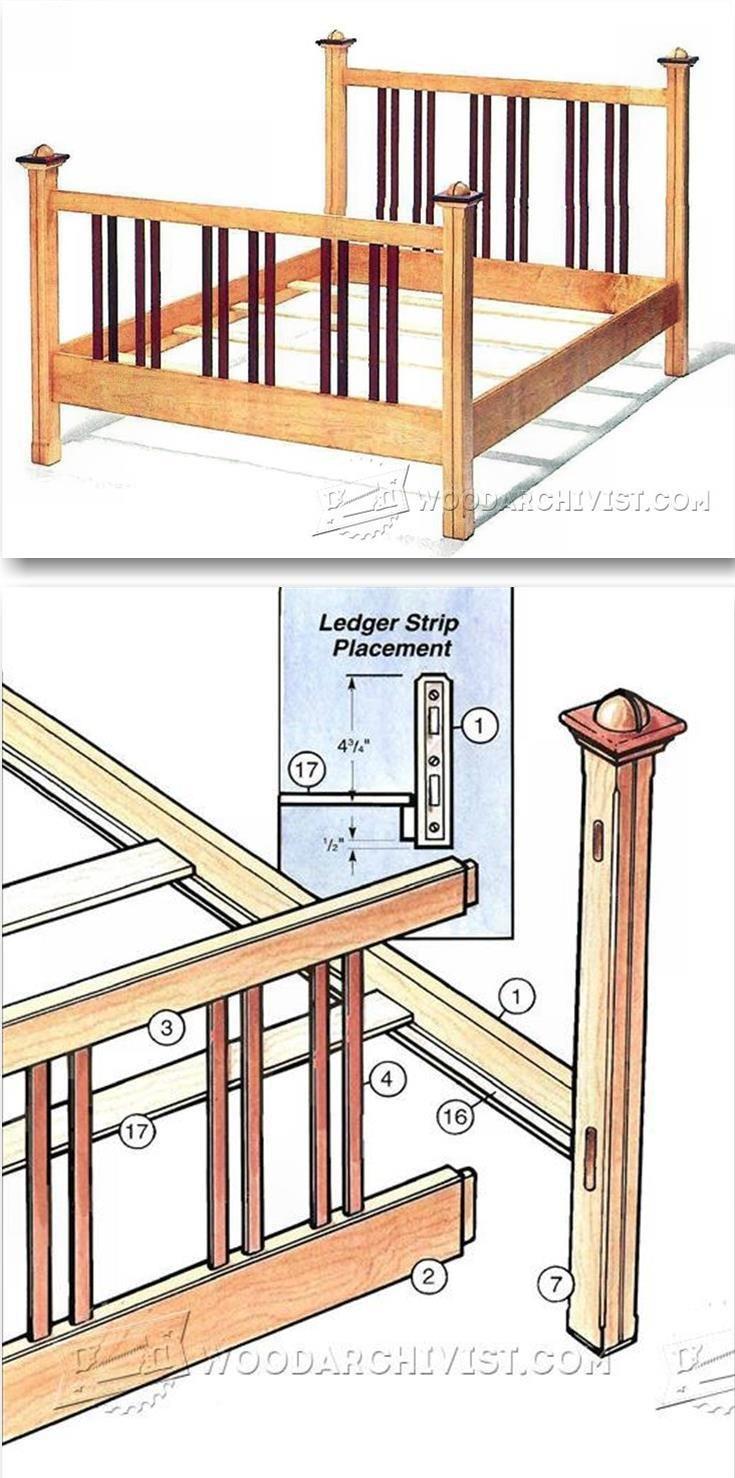 Bed Frame Plans | Bed frame plans, Furniture plans and Bed frames
