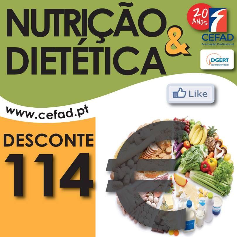 Promoção Exclusiva Facebook:  ** Receba 50% de desconto na inscrição do Curso Nutrição e Dietética, 25 horas, para já, em Lisboa. www.facebook.com/Cefad.pt