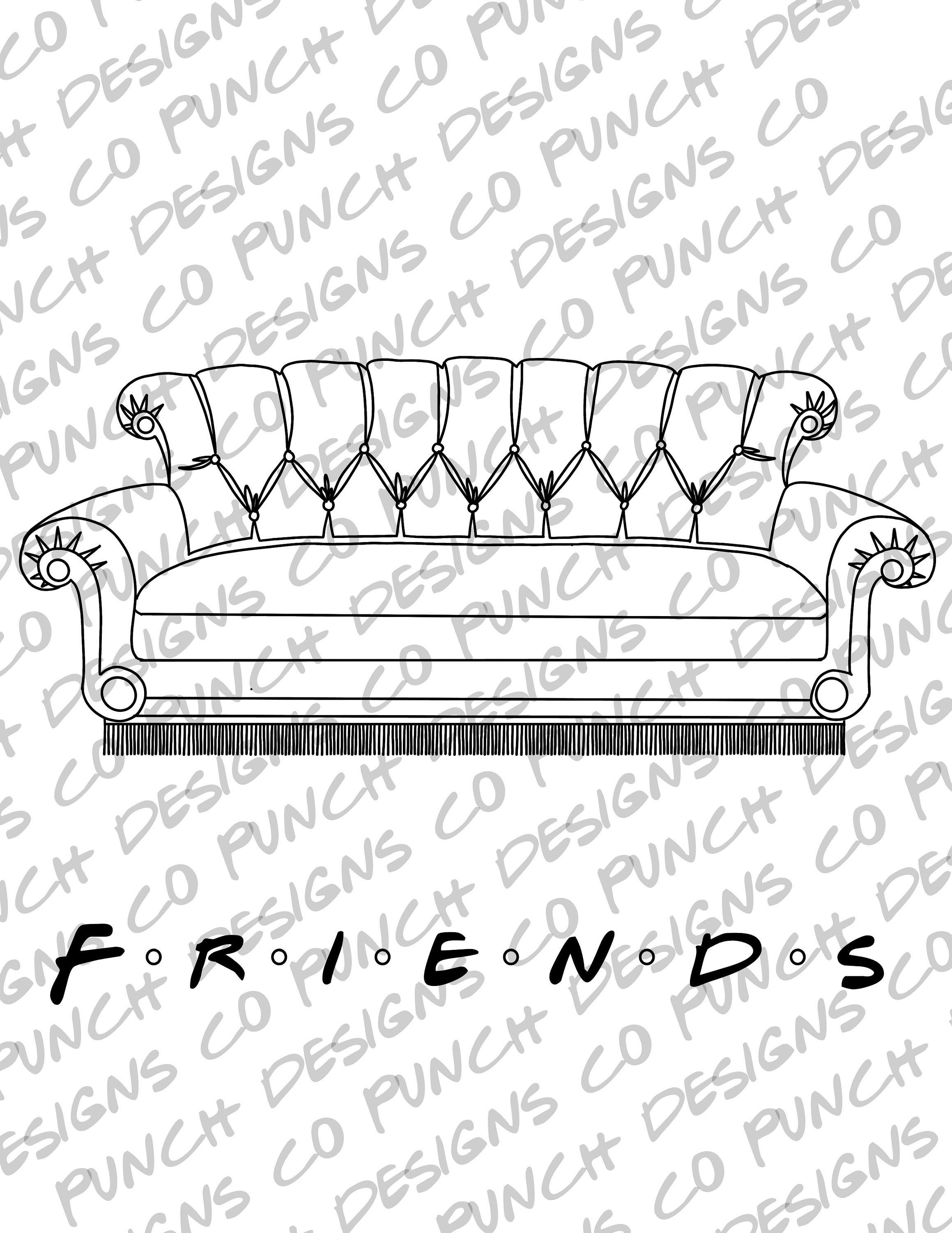 The Unofficial Friends Tv Show Printable Coloring Book Digital Download Coloring Book Printable Coloring Printable Coloring Book Friends Tv Show Friends Tv