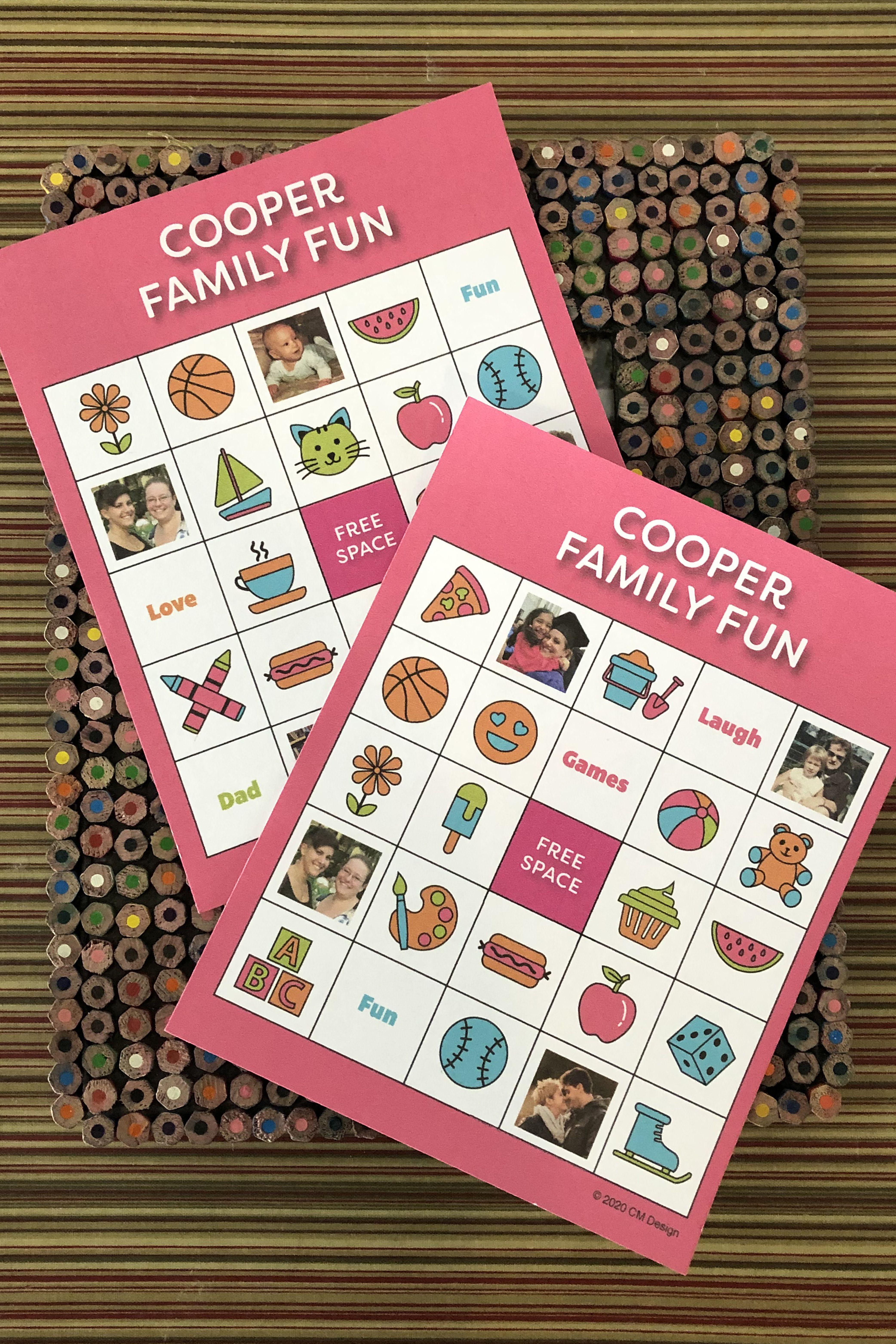 Pin On Family Bingo Customized For You