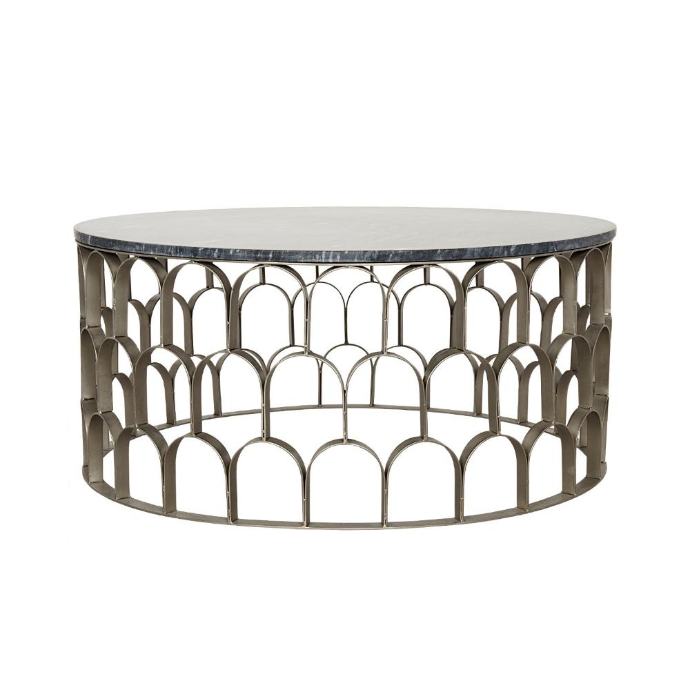 Mina Coffee Table Antique Silver Stone Silver Coffee Table Coffee Table Round Coffee Table Modern [ 1000 x 1000 Pixel ]