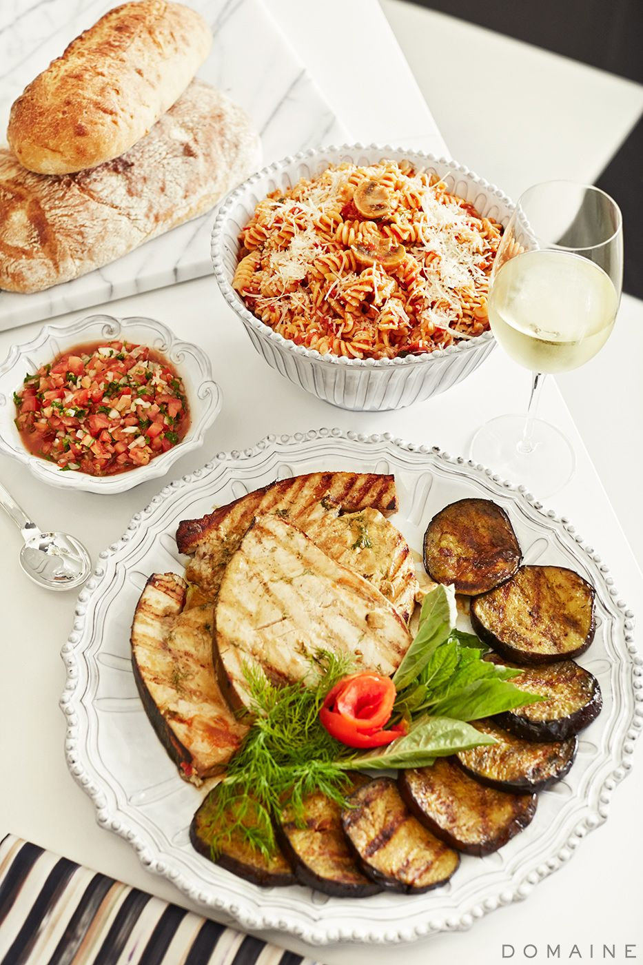 kris jenner's grilled swordfish steaks with tomato salsa | grilled