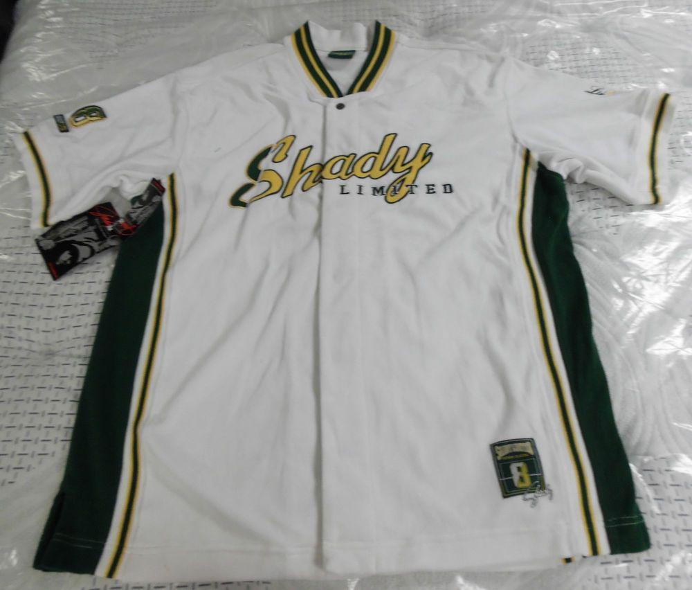 d11c10699 ... Eminem Slim Shady NWT Jersey Style Velour Shirt by Shady LTD, Mens XL  ...