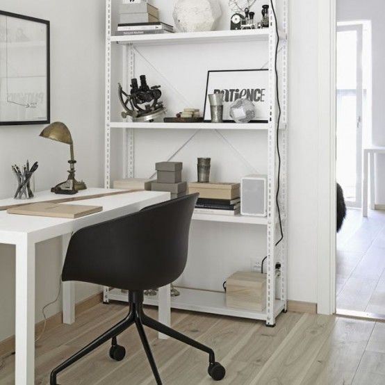 Work Happily With These 50 Home Office Designs For Men Organization Ideas