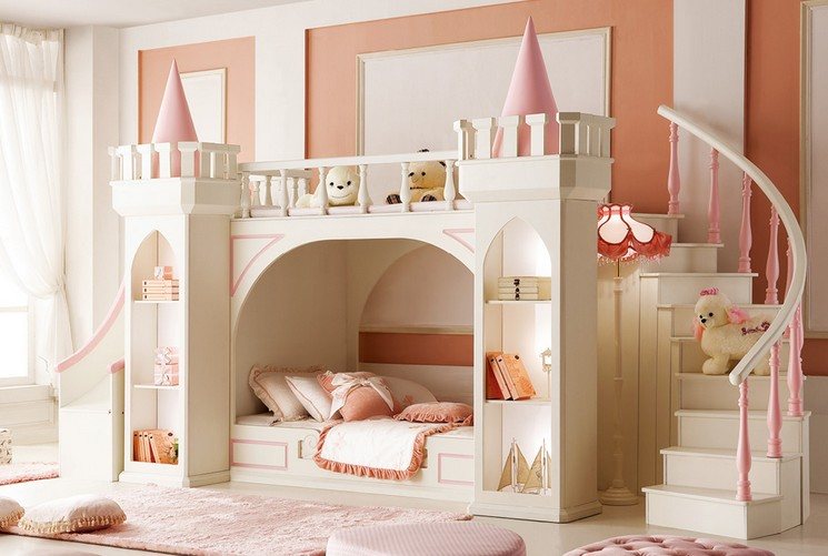 Noble Vogue Kid S Castle Bunk Bed Set W Slide Stairs Mdkbbsc N20 888518 4 966 00 Online Shopping Ch In 2020 Cool Kids Bedrooms Castle Bed Little Girl Rooms