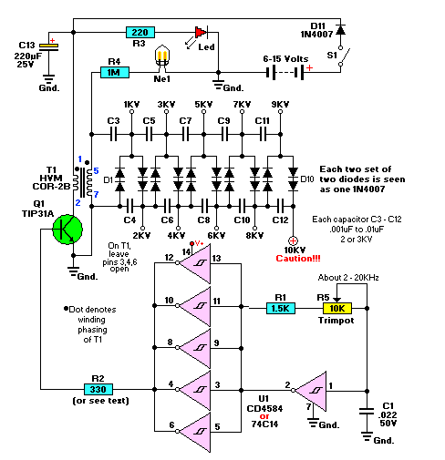 fbbb828f8ec5f559a905285a91bf52f0 high voltage dc generator circuit diagram electronic circuit