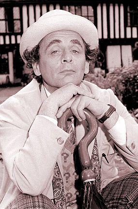 Sylvester McCoy as Dr Who by Steve Cobb. Taken during a break in filming 'Silver Nemesis'