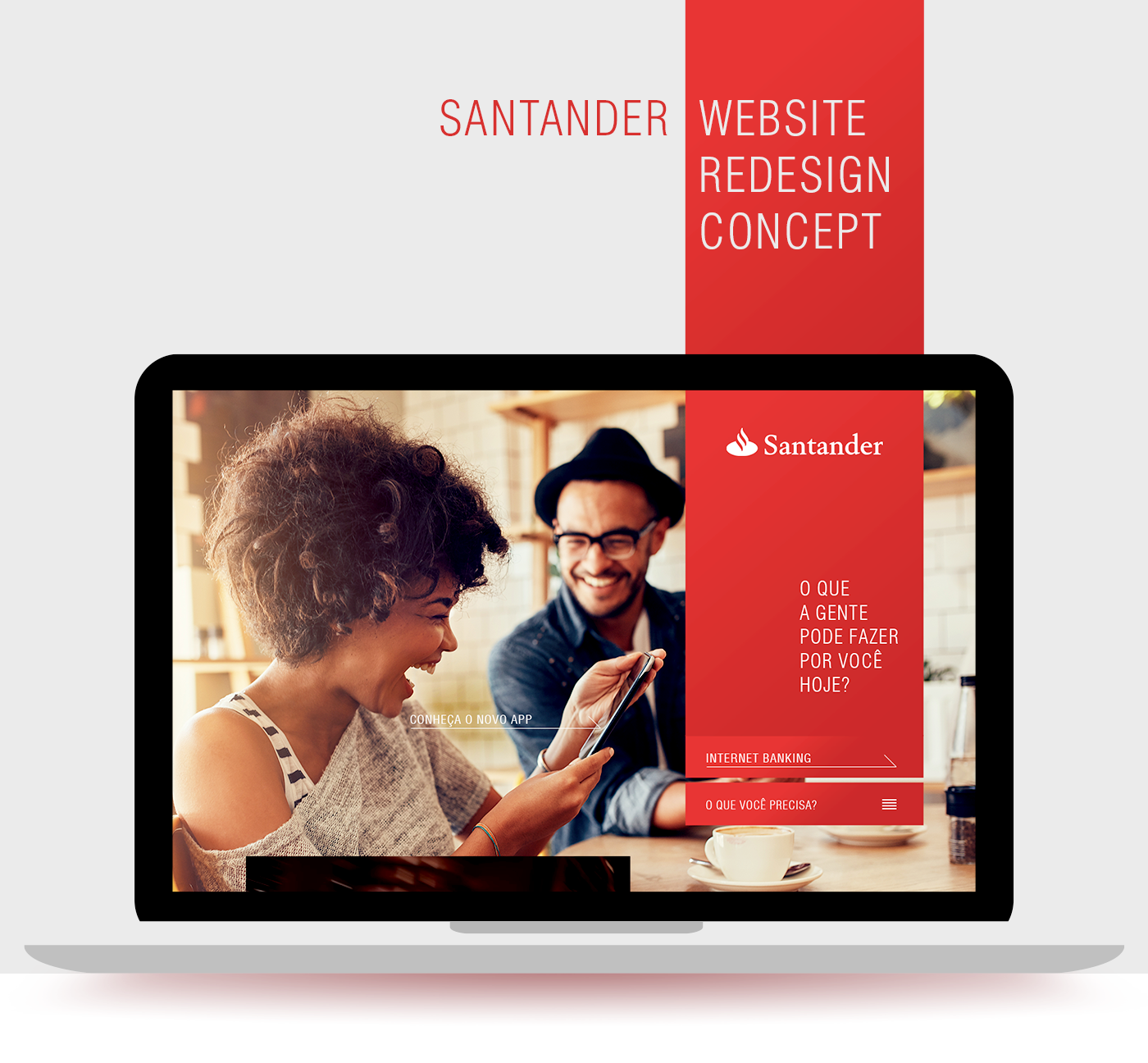 Santander Website Redesign Concept On Behance Website Redesign Banks Advertising Santander
