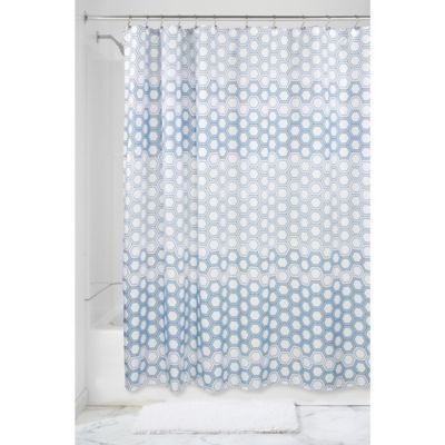Interdesign Ombree Hexagon Shower Curtain In Blue Home Decor