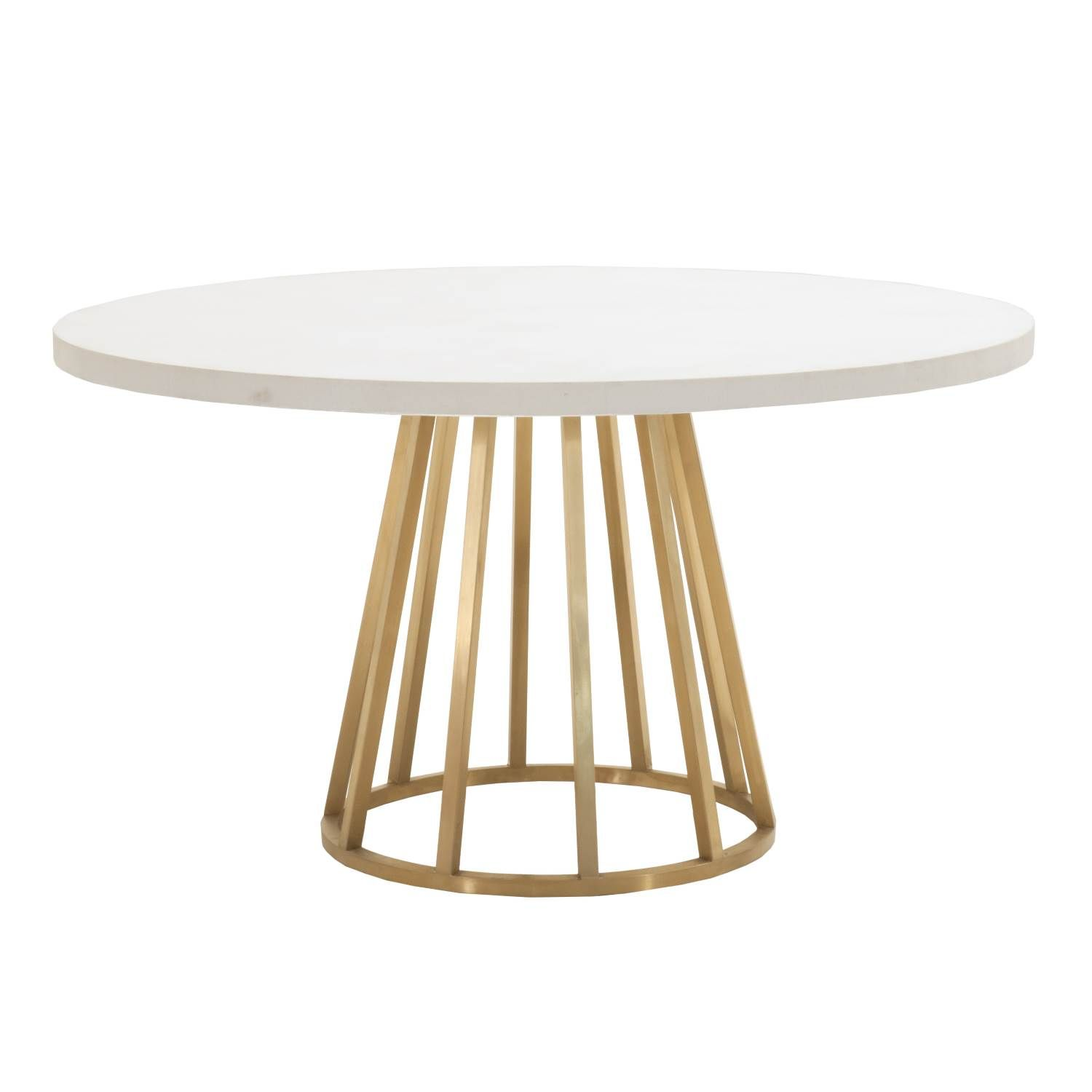 Annex 54 Round Dining Table Dining Table Gold Round Concrete