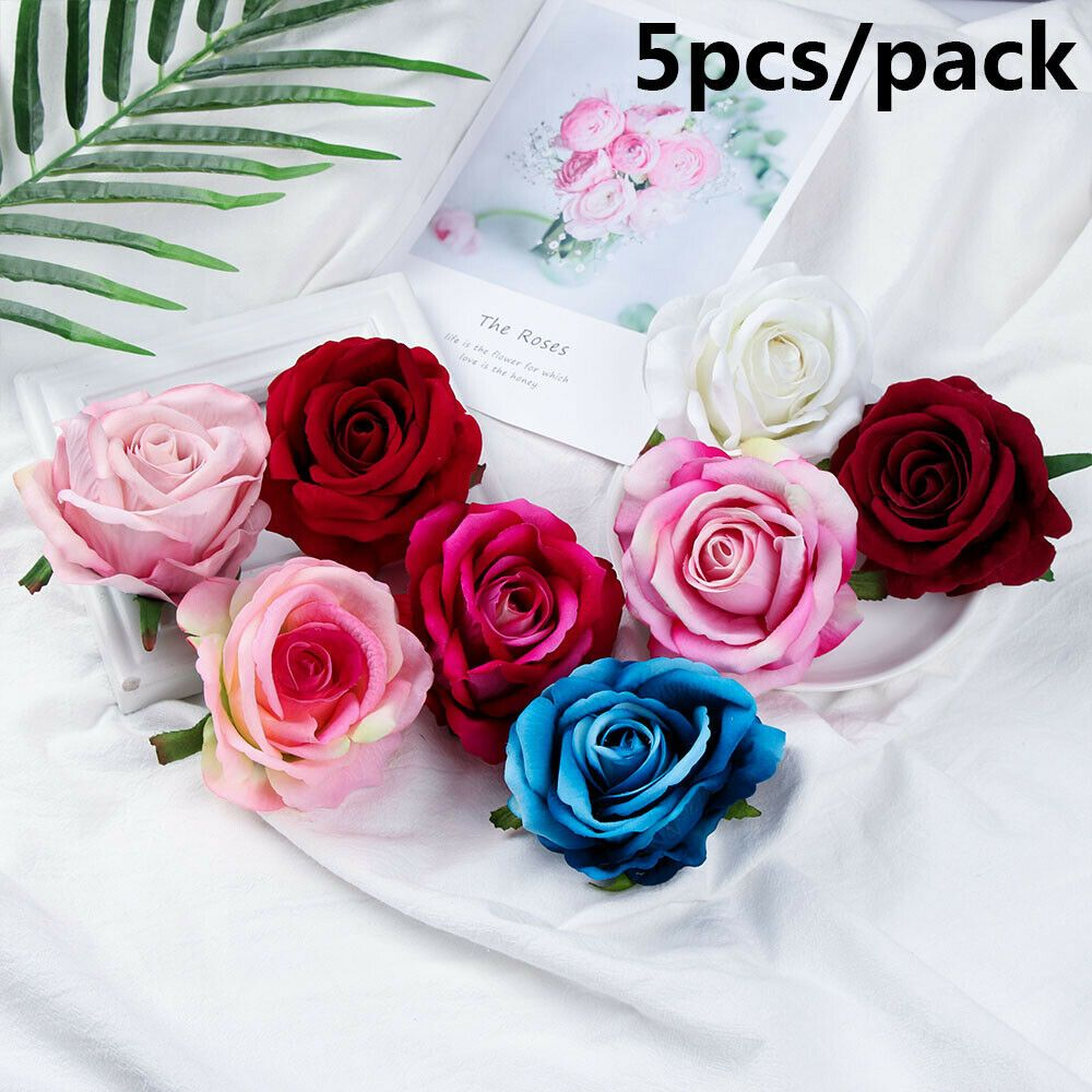 5Pcs Artificial Peony Fake Bouquet Flower Heads Floral Party Wedding Decor