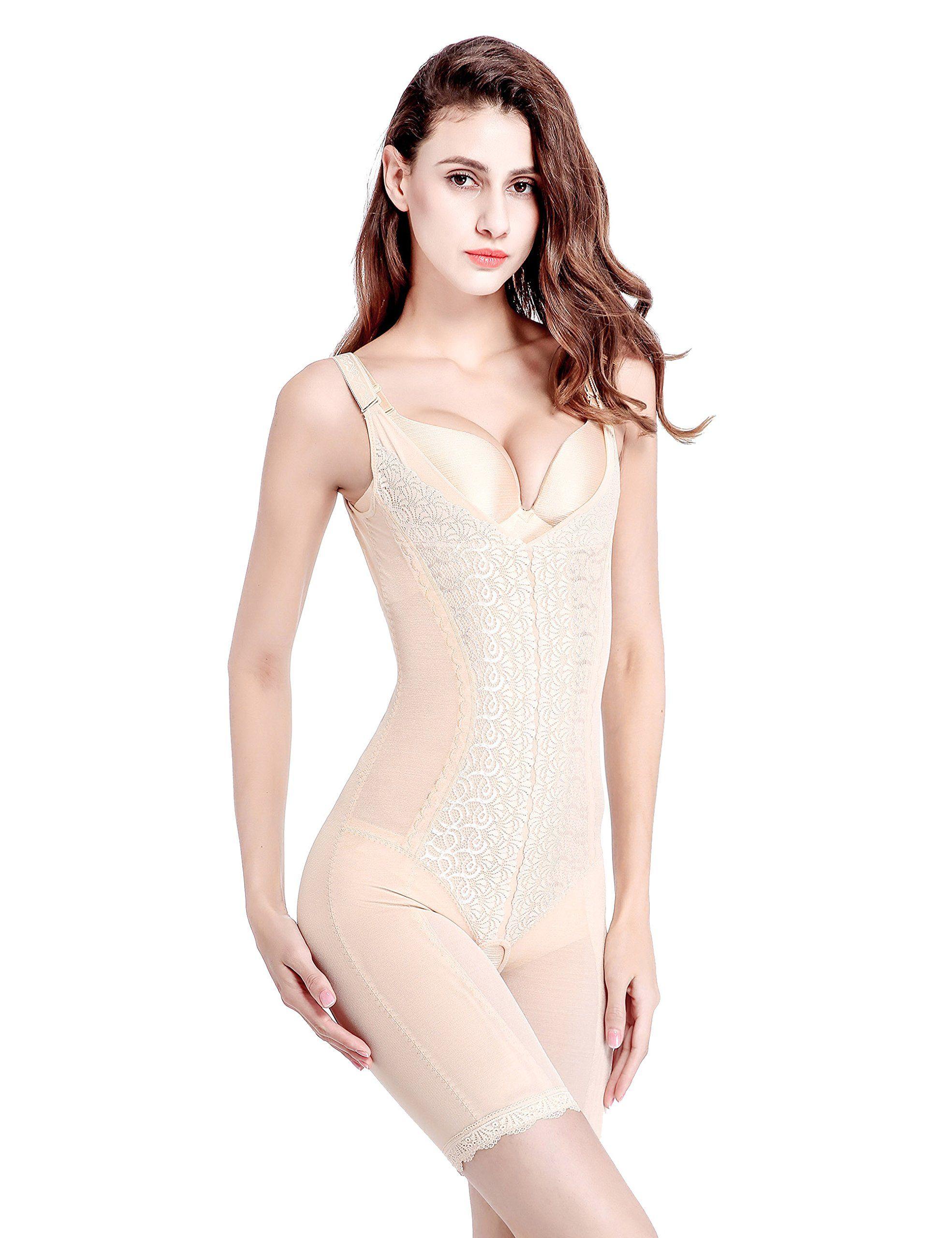 0e9960fccfe18 Sobefie Womens Full Body Shaper Firm Control Slimming Bodysuits Shapewear  Breathable Skin     Check