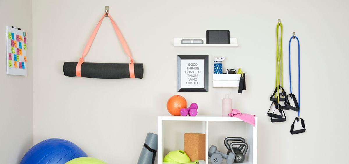 Create a budgetfriendly home gym using command brand
