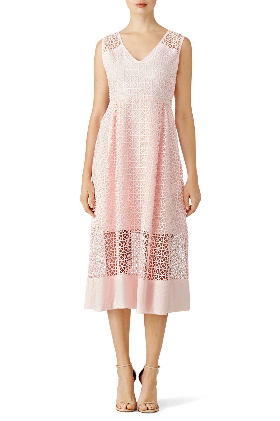 ST by Olcay Gulsen Blush Geometric Lace Dress | WEDDING INSPIRATION ...