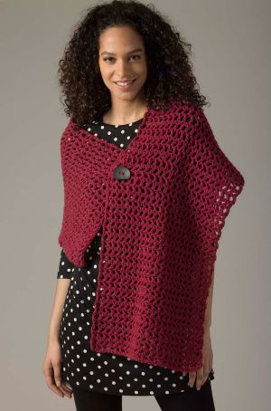 Level 1 Crocheted Shawl-free pattern | stricken | Pinterest | Schals ...