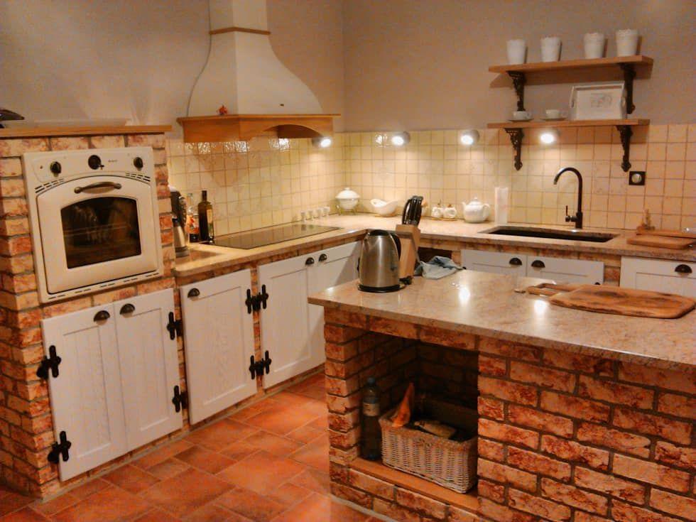 кухонный гарнитур из кирпича фото результате