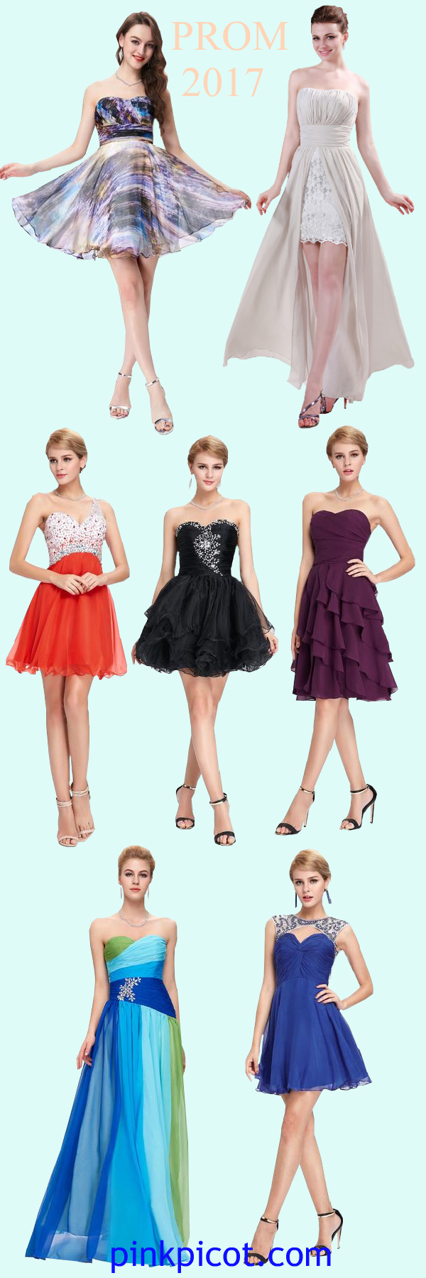 Get your dream prom dresses up to off pinkpicot gowns