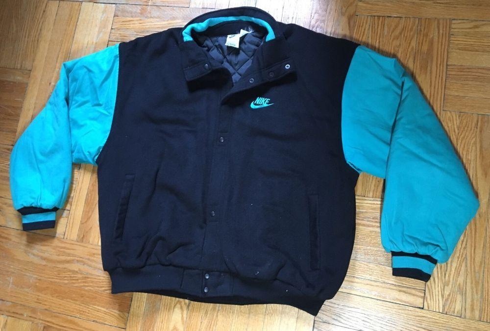 ec3bef09bbbb47 Vintage 90s NIKE Air Command Force Basketball Varsity Jacket XL Letterman  Jordan