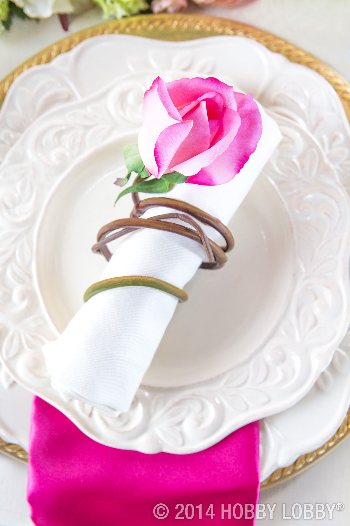 Diying Everything From The Table Runner To The Napkin Rings Is A Right As Roses Way To Make Sure This Party Is One Your Guests Wi Hobby Lobby Wedding Invitations