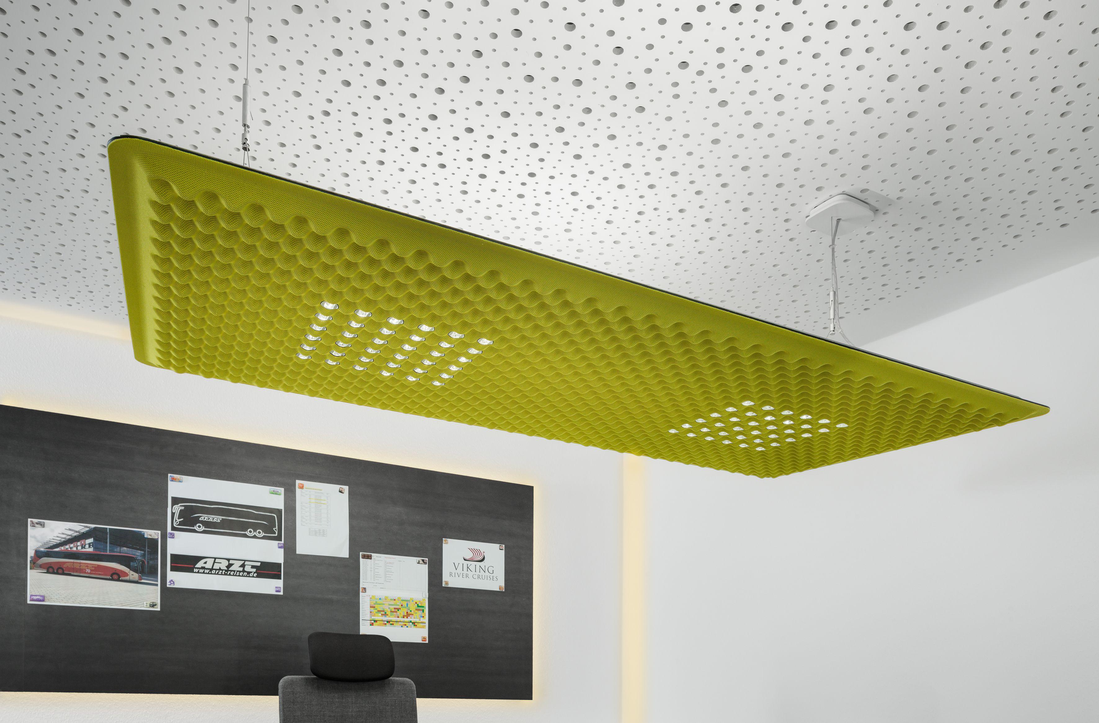 akustikdecke gr n lampe deckenabsorber stahl magnettafel radikal rational ludwig arzt. Black Bedroom Furniture Sets. Home Design Ideas