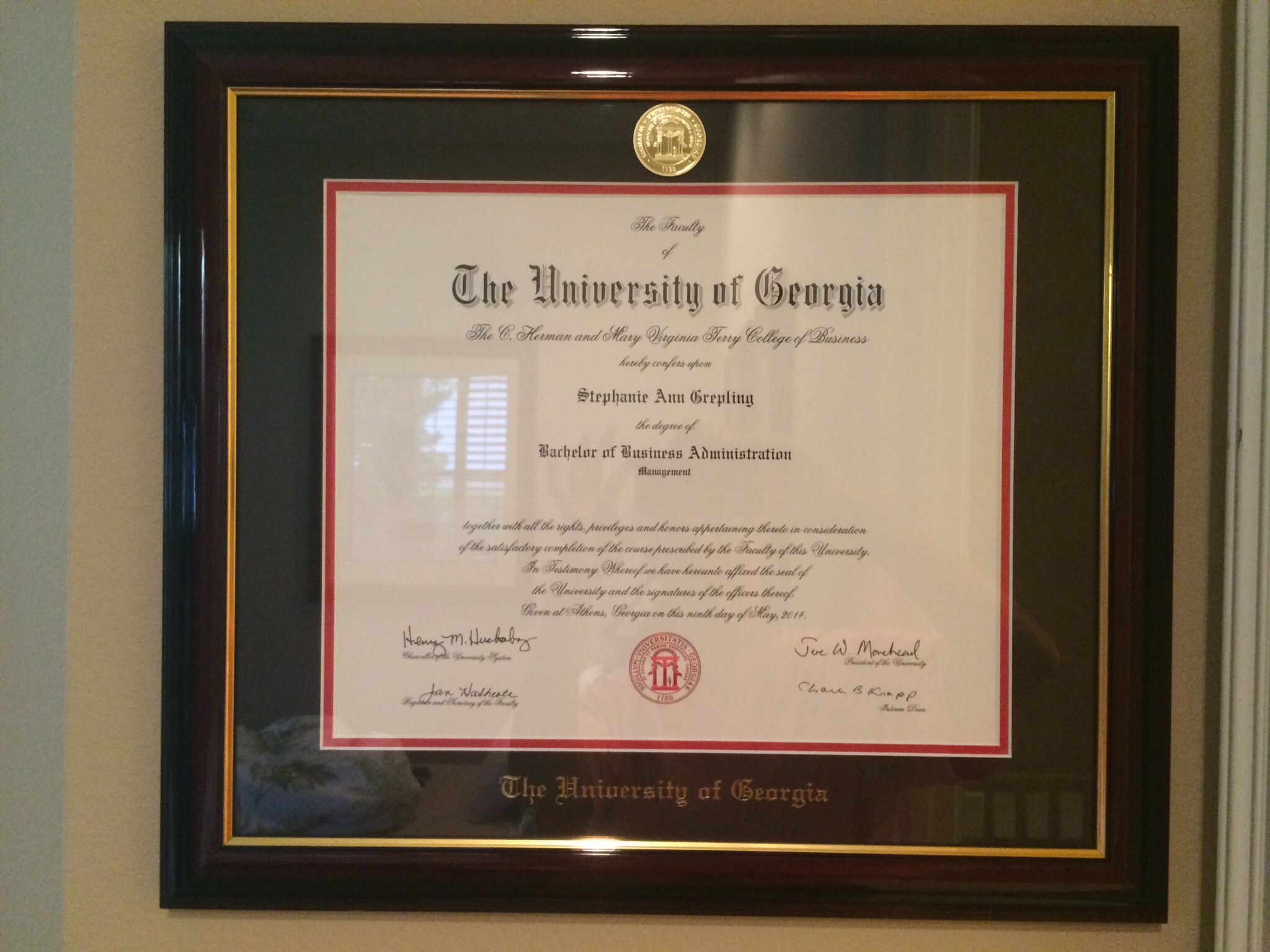 Uga Terry Degree With Images Terry Florida Frame