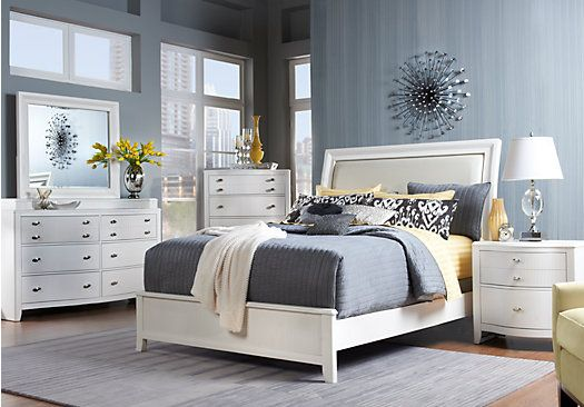 Shop for a Melrose Hill Queen White 5Pc Panel Bedroom at Rooms To Go