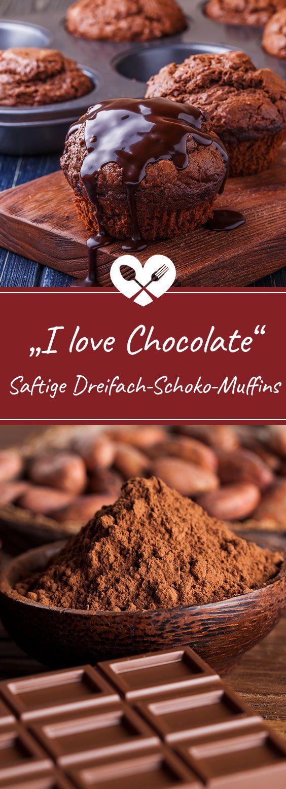 Wer Schokolade mag wird diese Muffins lieben! Hier findet ihr das Rezept super saftiger Schokoladen-Muffins.  #rezept #rezepte #schokolade #schoko #muffin #muffins #schoki #lecker #essen #genuss #schokomuffins #backen #kochen #yummy #yum #kakao #blog #foodblog #foodie #geschmackundliebe #geschmack #liebe