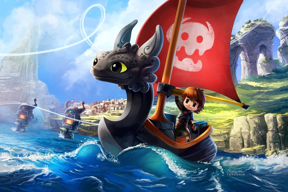 How To Train Your Dragone Wind Waker! Toothless Boat Is Best