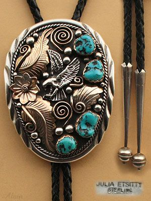 Western Bolo Tie/ Arrow Head/Silver with Black Stone front ... |Bolo Western Artwork