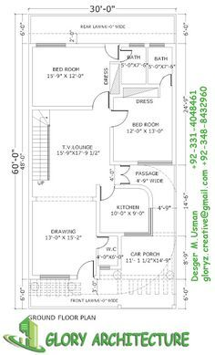 30x60 House Plan Elevation 3d View Drawings Pakistan House Plan