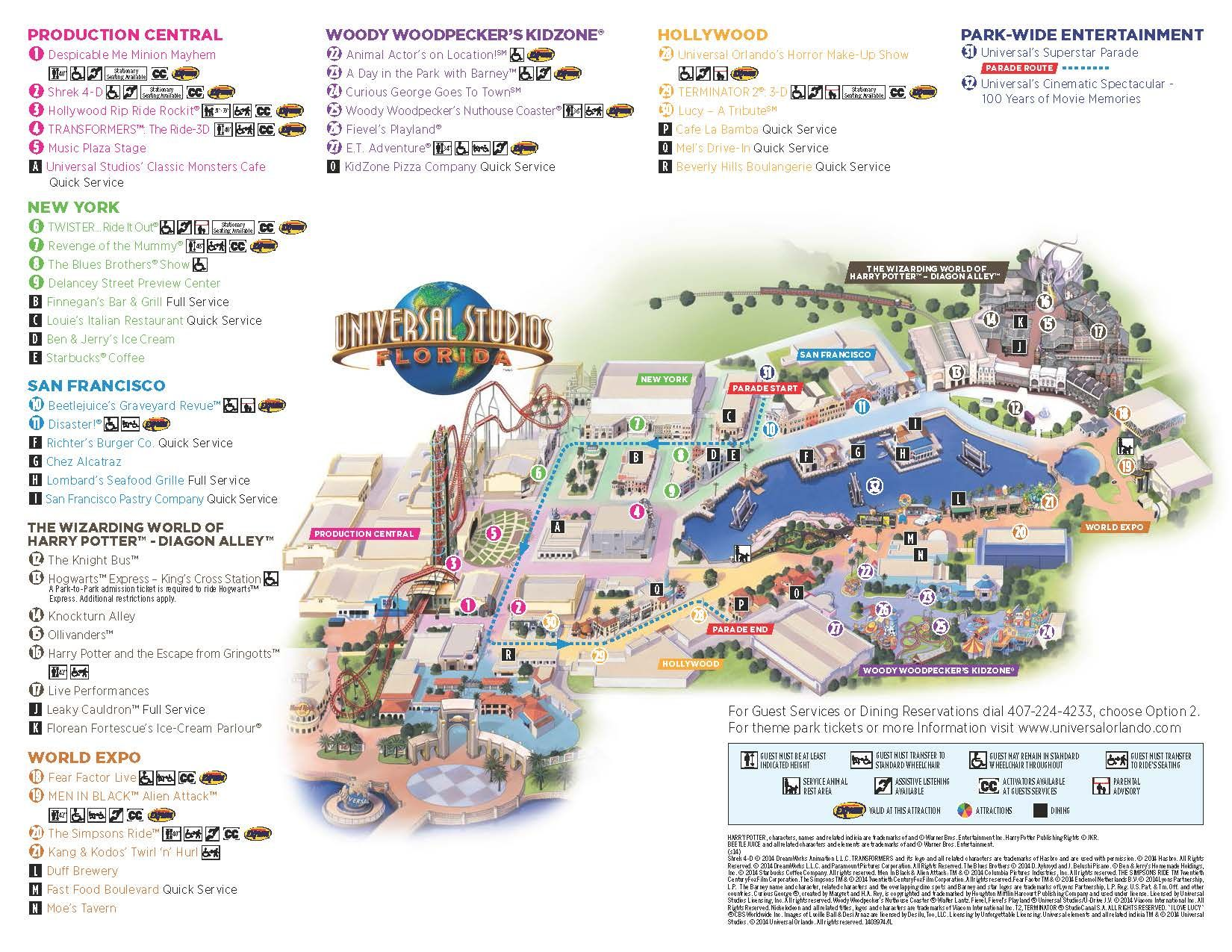 Universal Studios Florida Map.Universal Map Lauren And Olivia S Awesome Usa Trip Floride