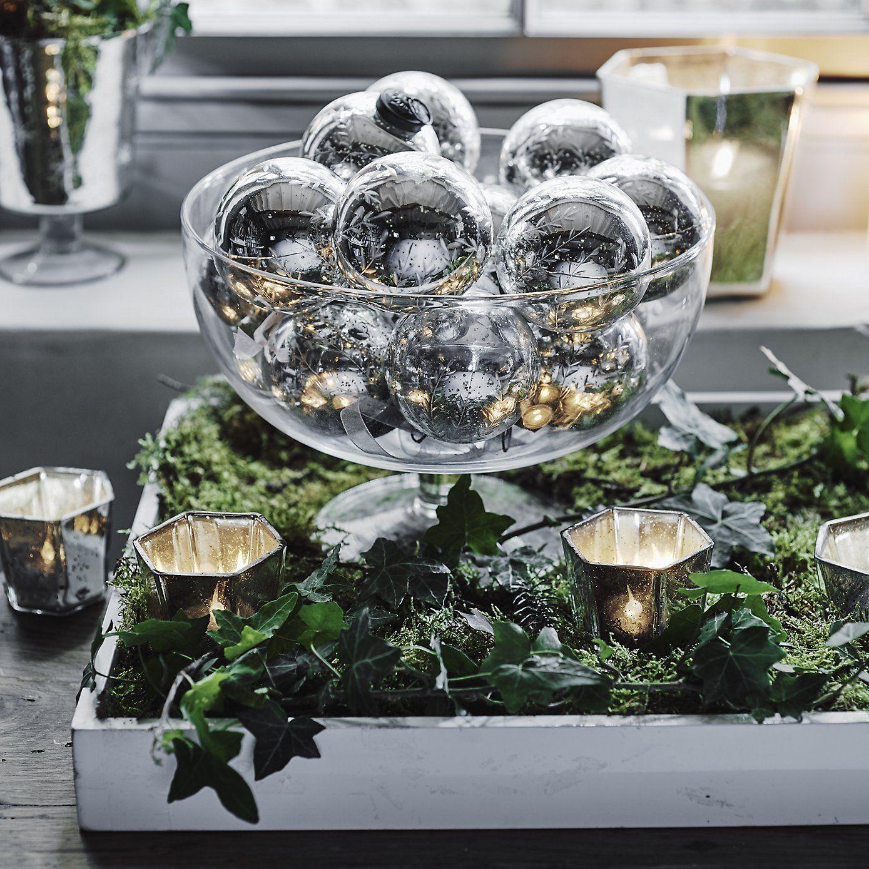 Glass Footed Bowl The White Company Simple Christmas Decor Christmas Table Christmas Home