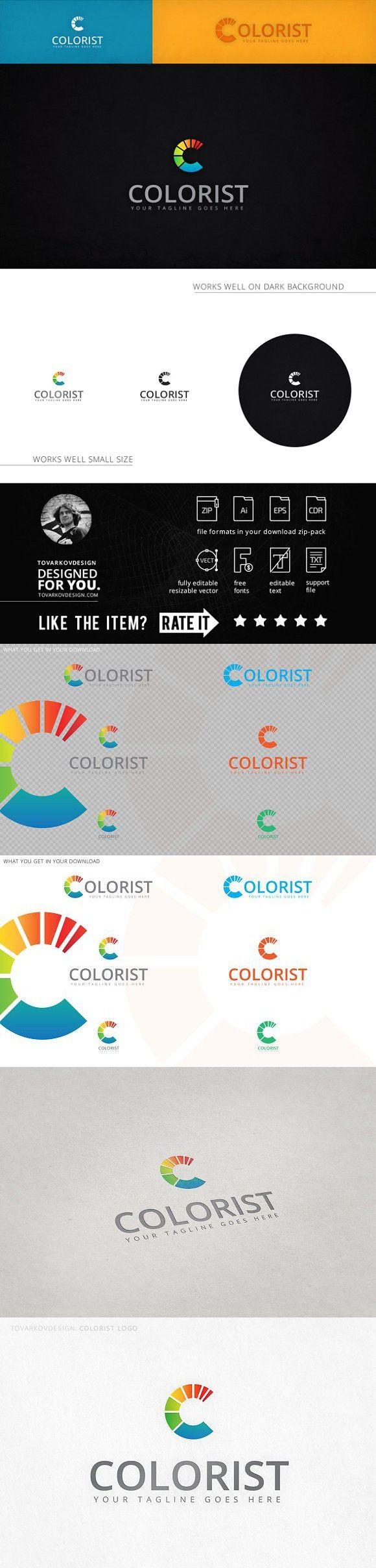 Colorist Letter C Logo Web graphic design, Lettering