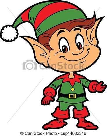 elf vector clip art of christmas elf happy smiling boy rh pinterest com clipart of elves clipart elves dancing