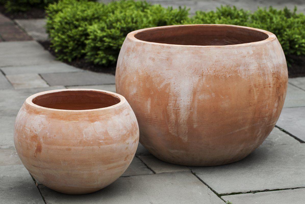Paseo 2 Piece Terracotta Pot Planter Set Terracotta Planter Planters Planter Pots