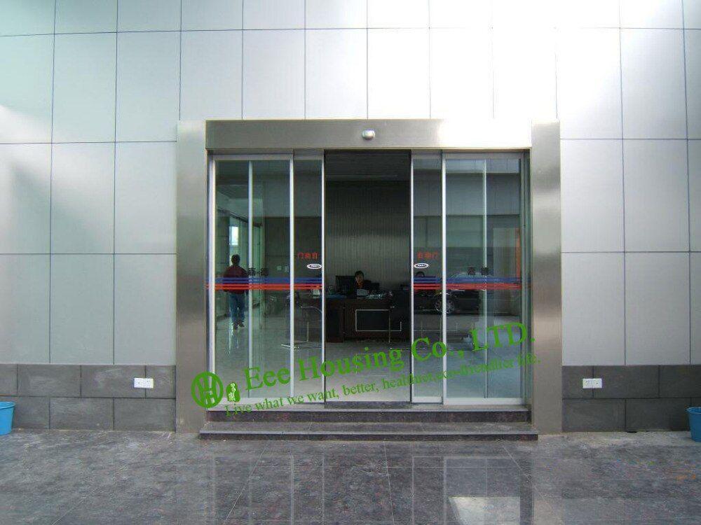 Diyhd Glass Barn Door Hardware Frameless Glass Sliding Door Track Interior Office Glass Sliding Barn Door Kit In 2020 Automatic Sliding Doors Sliding Glass Door Doors