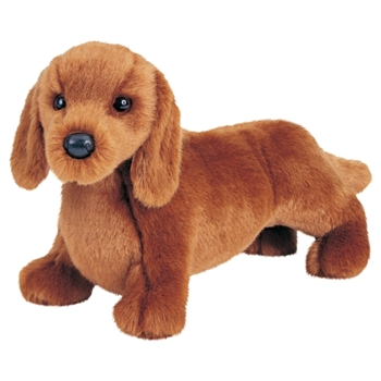 Gretel The 12 Inch Stuffed Dachshund Puppy By Douglas Red