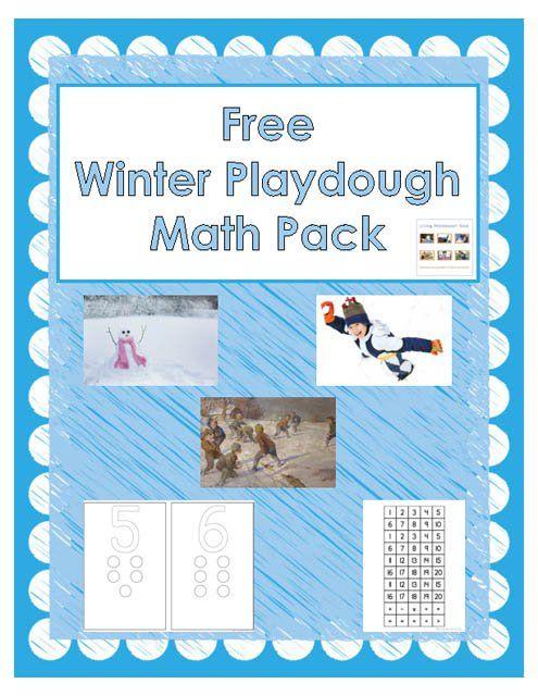 Free Winter Playdough Math Pack