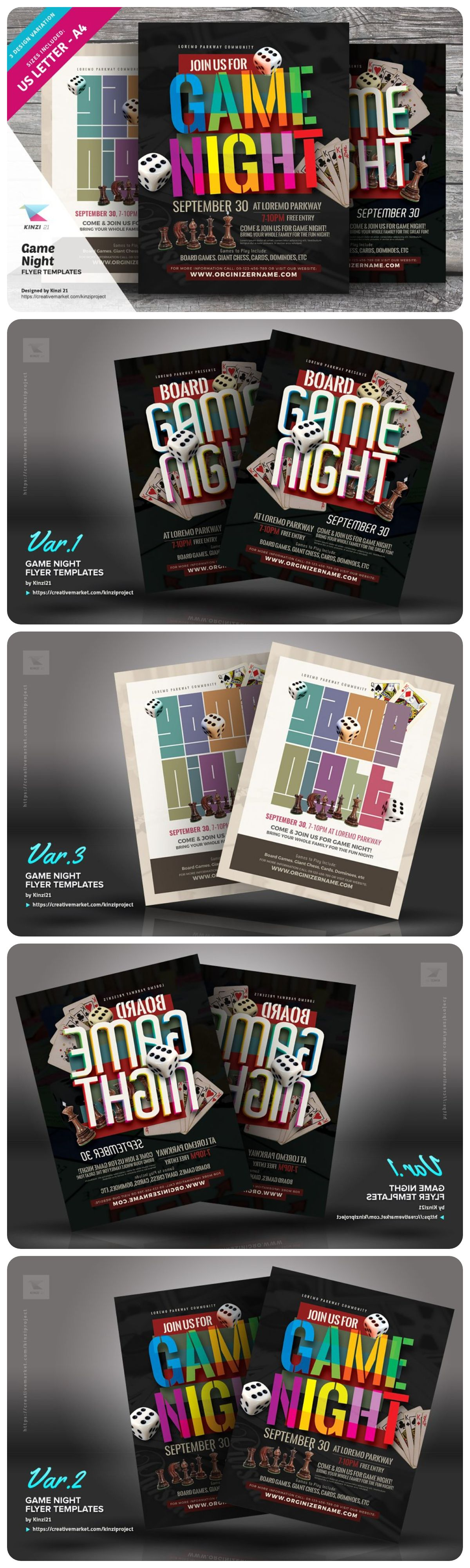 Game Night Flyer Templates Flyer Template Flyer Flyer Design Templates Board game night flyer template