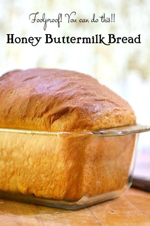 Homemade Buttermilk Bread Recipe With Honey Recipe Buttermilk Bread Honey Recipes Honey Buttermilk Bread