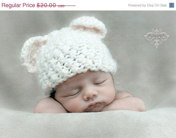 Sale 25 off Baby Bear Hat  Many Colors To Choose by garysangel, $15.00