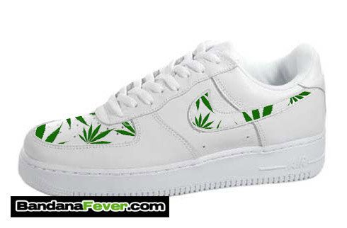 quality design a099a b2568 ... ones Nike Weed Pot Leaf Air Force 1 Low White by BandanaFeverDesigns ...