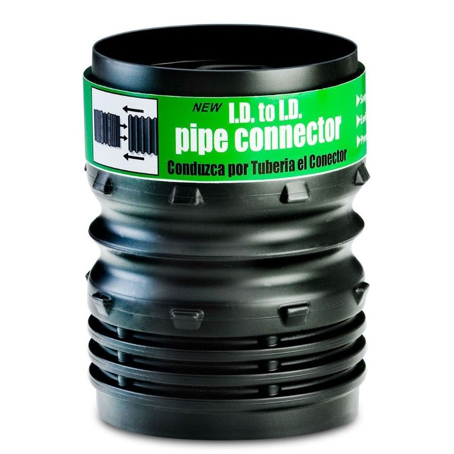 Flex drain 53302 i d to 4 inch i d pipe connector for Drain pipe landscaping