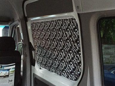 Slider Door Window Covering With Magnets Camper Van