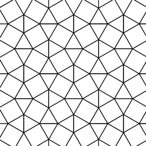 Tessellation With Triangle And Square Tiling Coloring Page Free Printable Coloring Pages Tessellation Patterns Geometric Patterns Drawing Coloring Pages