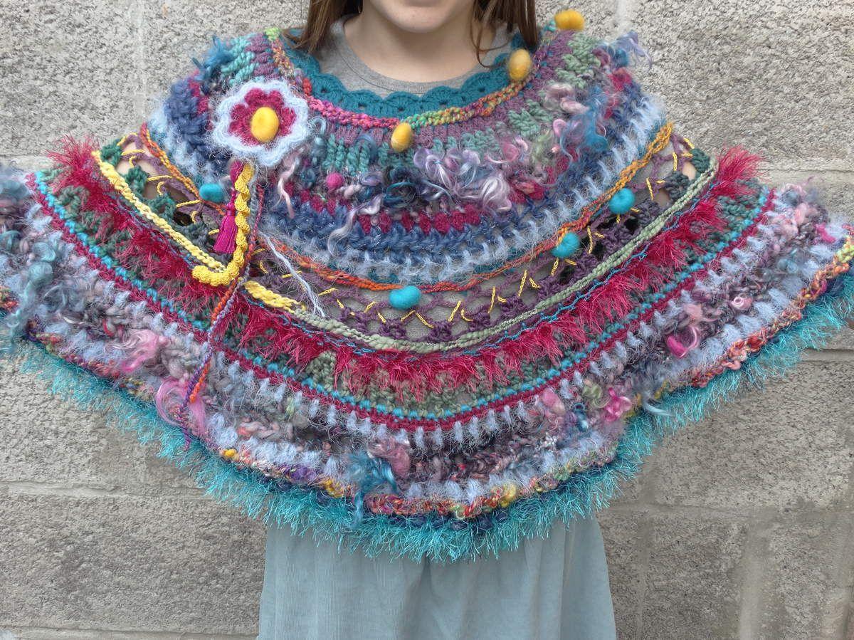 Un automne tout en couleurs avec ce chauffe épaules réalisé au crochet. Laine filée... - les-creations-de-lolo.over-blog.com