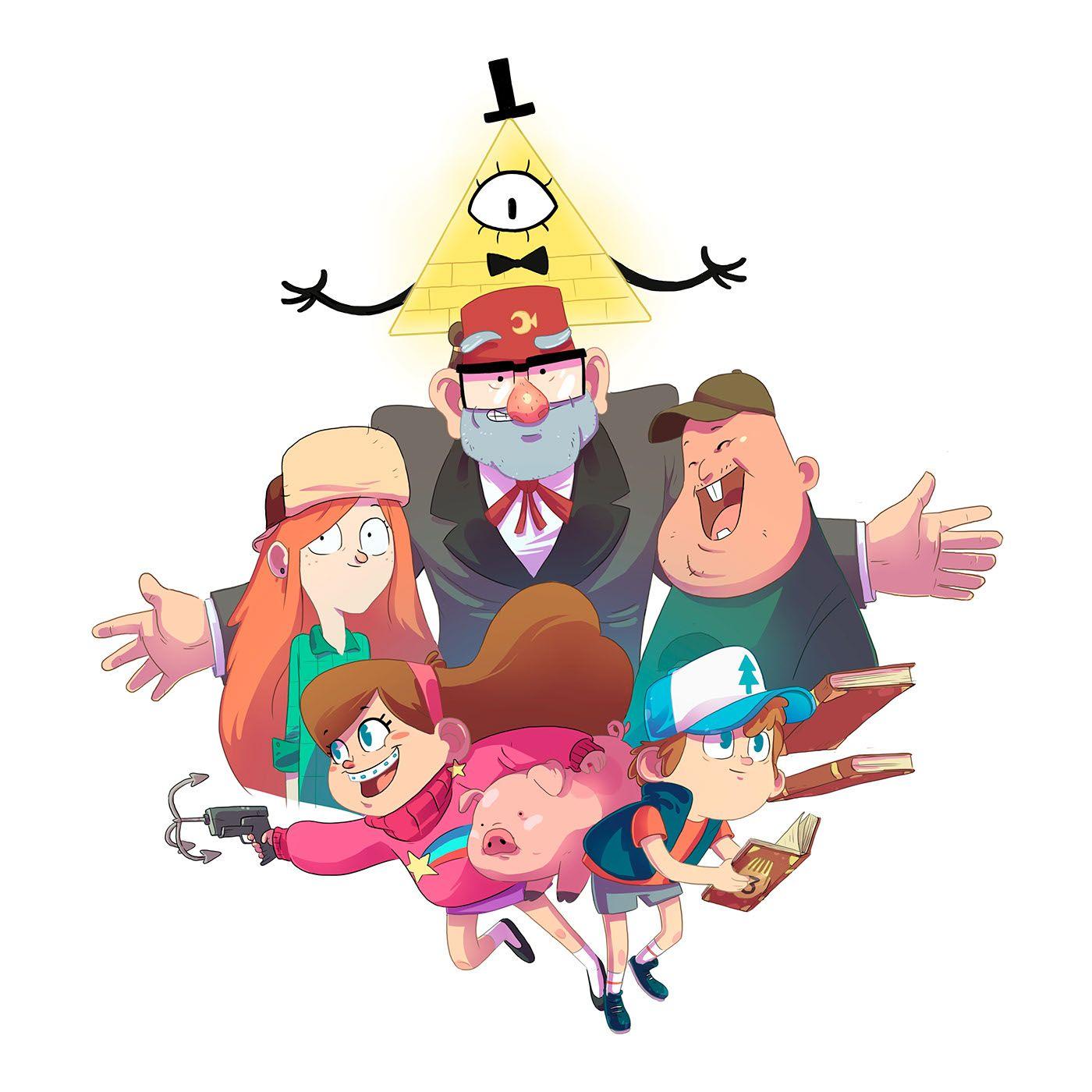 Картинки гравити фолз всех персонажей цветные