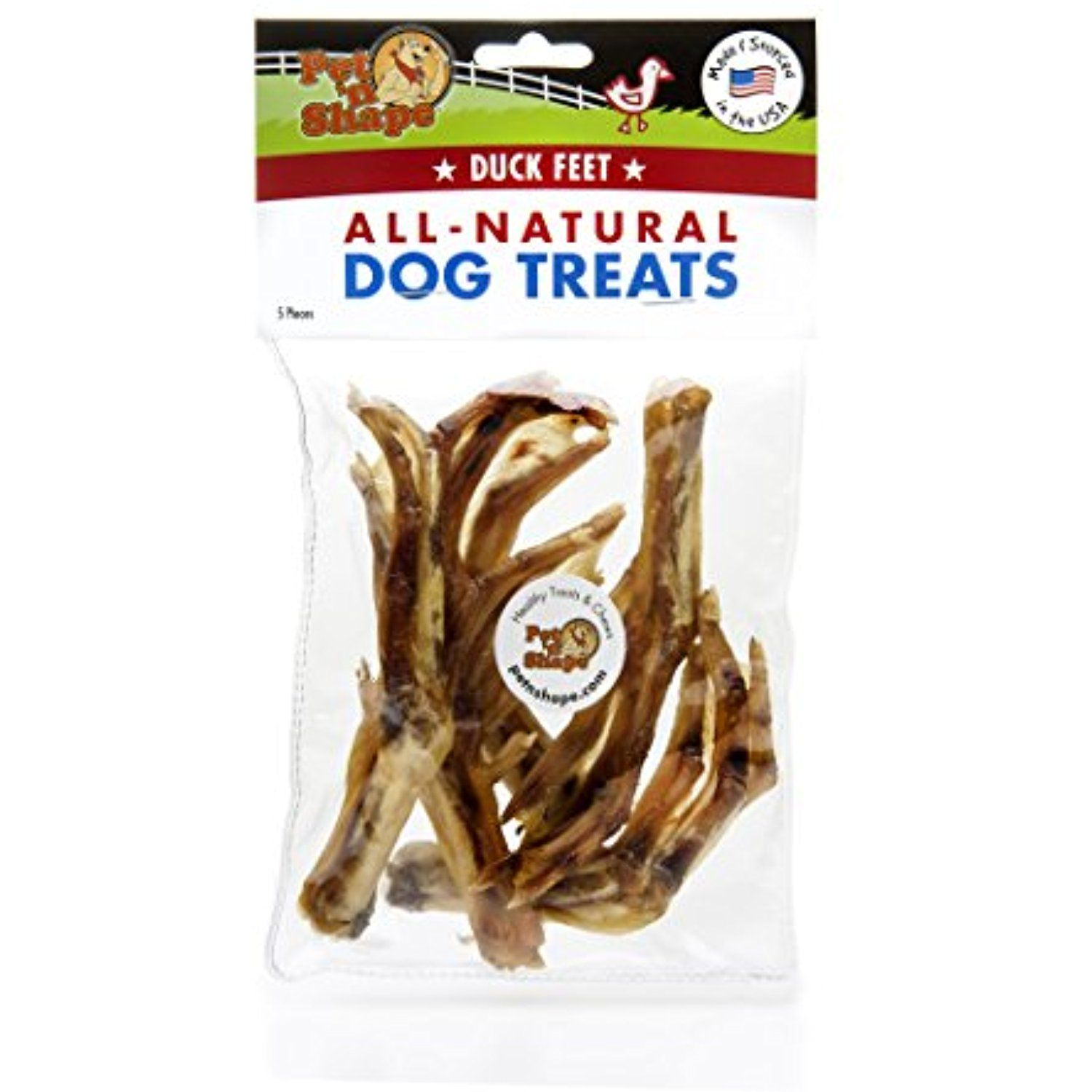 Pet n shape made in usa all natural dog chews duck